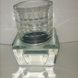 Other - New Mirror Glass Holder with Glass with Patterns